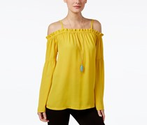Inc International Concepts Off-The-Shoulder Peasant Top, Polished Gold