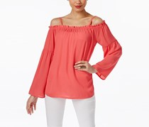 INC Off-The-Shoulder Peasant Top, Polished Coral
