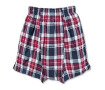 Men's Boxers Short, Woven, Red/Blue checkered