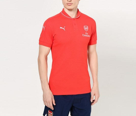 Mens AFC Casuals Performance Polo, High Risk Red