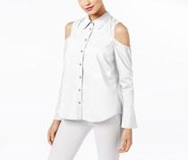 Inc International Concepts Cold Shoulder Shirt, Bright White