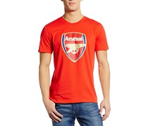 Puma Men's Arsenal Crest Fan Shirt, High Risk Red
