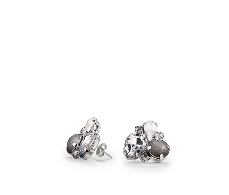 Women's Earring, Frosted Stones