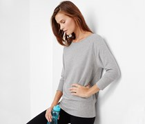 Women's Bat Sleeve Sweatshirt, Grey