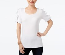 Inc International Concepts Women's Ruffle-Sleeve Top, White