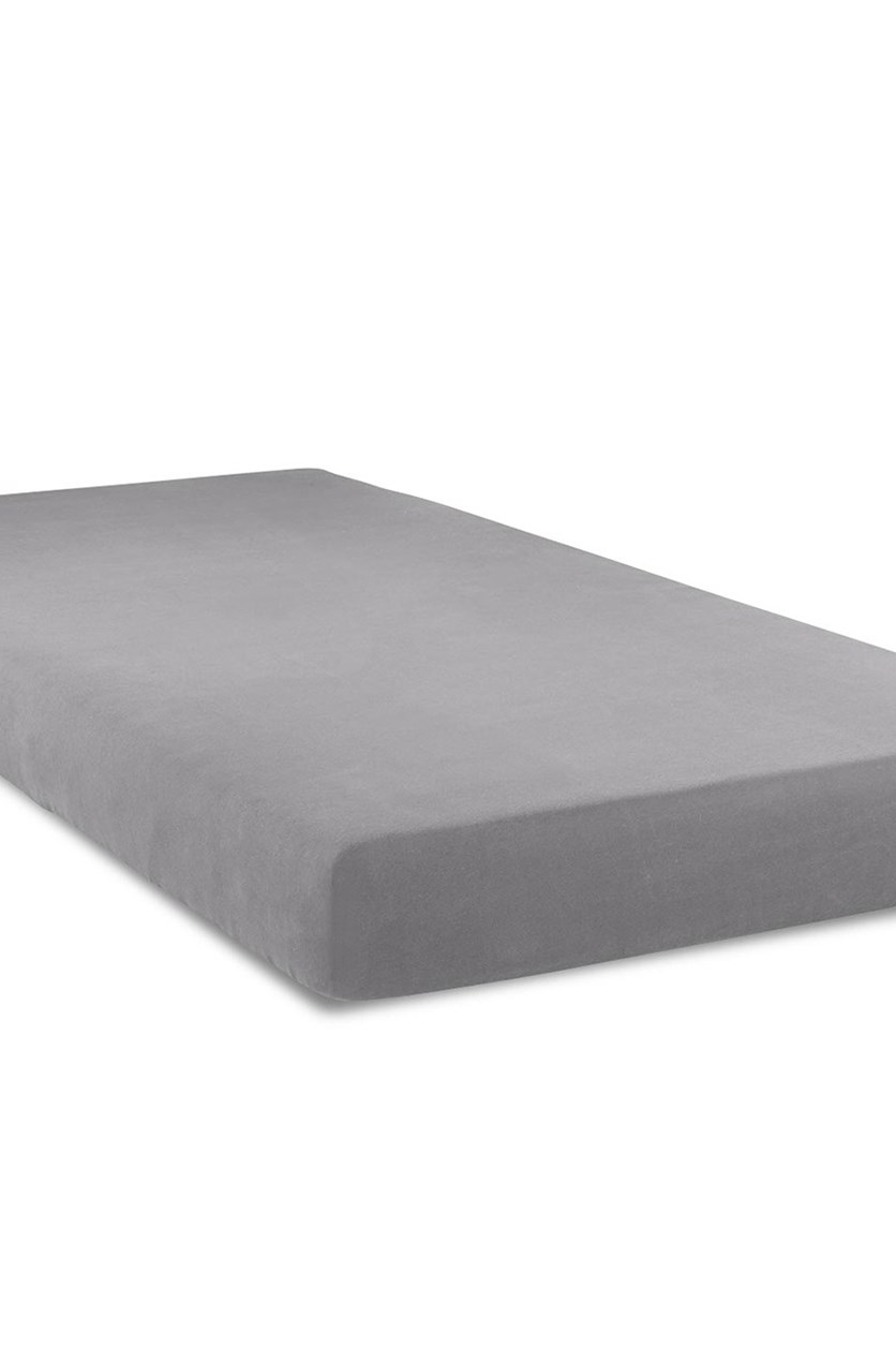 Jersey Fitted Sheet 140 x 200 cm, Grey