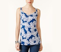 INC International Concepts Cowl-Neck Tank Top, Lace Flower