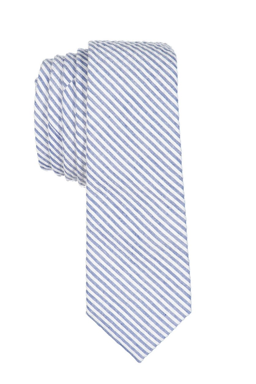 Boy's Stripe Neck Tie, Blue