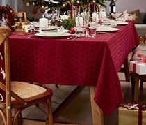 Tablecloth with Jacquard, Red