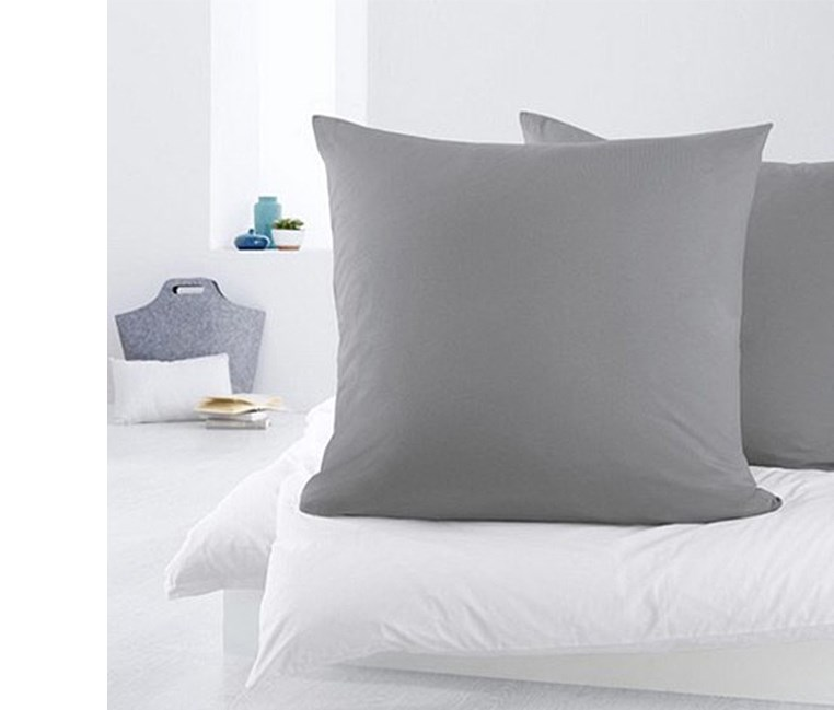 Pillowcases Set of 2 80 x 80 cm, Grey
