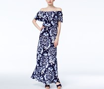Inc International Concepts Petite Off-The-Shoulder Printed Maxi Dress, Harmonic Crest