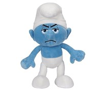 The Smurfs Grouchy 20cm Plush Toy, Blue/White