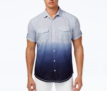 Men Ombre Short-Sleeve Shirt, Shaved Ice