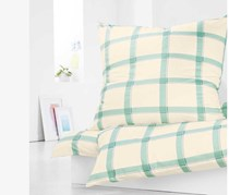 Jersey Duvet Set, 135x200 cm, Mint/White