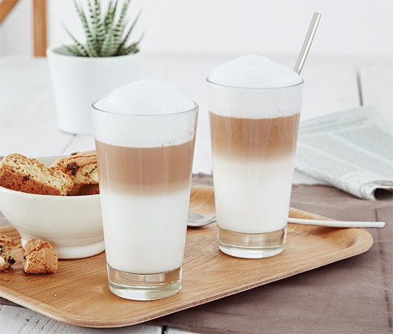 2 Latte Macchiato Glasses, Transparent