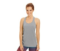 Ideology Heathered Racerback Tank Top, Silver Ice