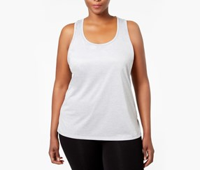 Ideology Plus Size Essential Racerback Performance Tank Top, Silver Ice