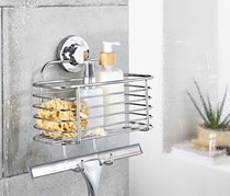 Suction Storage Cart, Silver