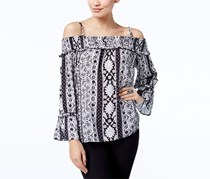 Inc International Concepts Printed Off-The-Shoulder Top, French Wood