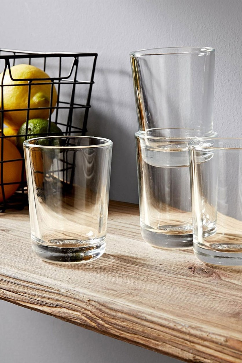 Water Glasses Set of 4, Transparent