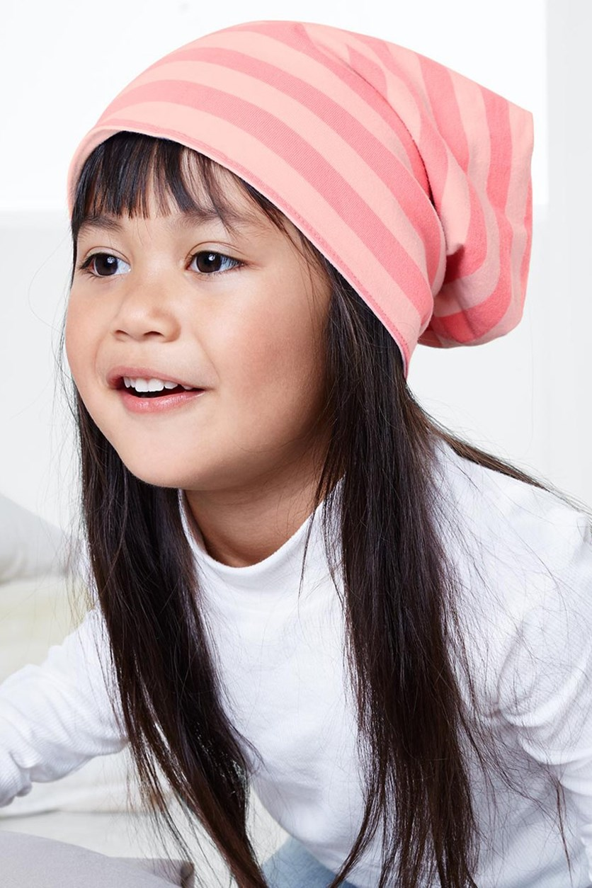 Girl's Variable Cap, Pink/Blue/White