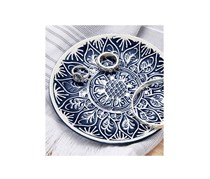 Decorative Bowl, Blue/White