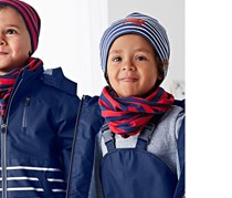 Kid's Reversible Beanie, Red/Blue