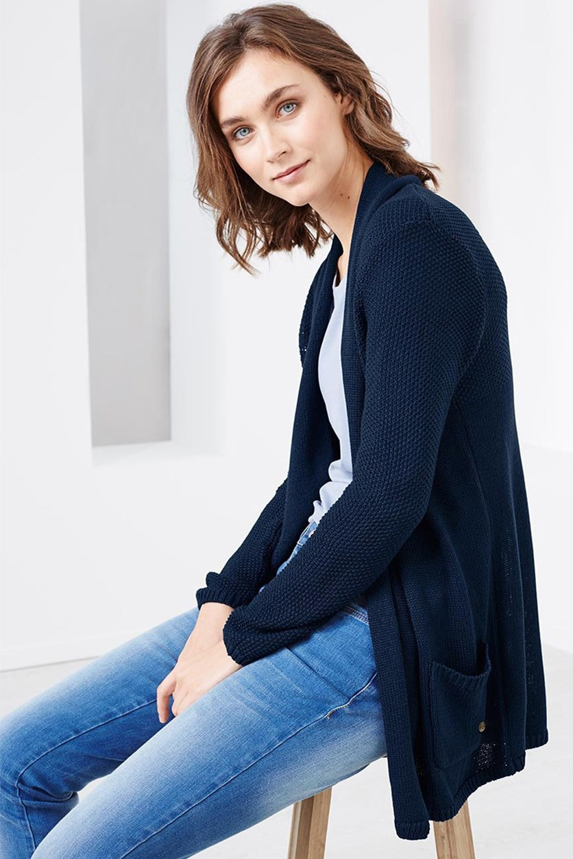 Women's Cardigan, Navy Blue