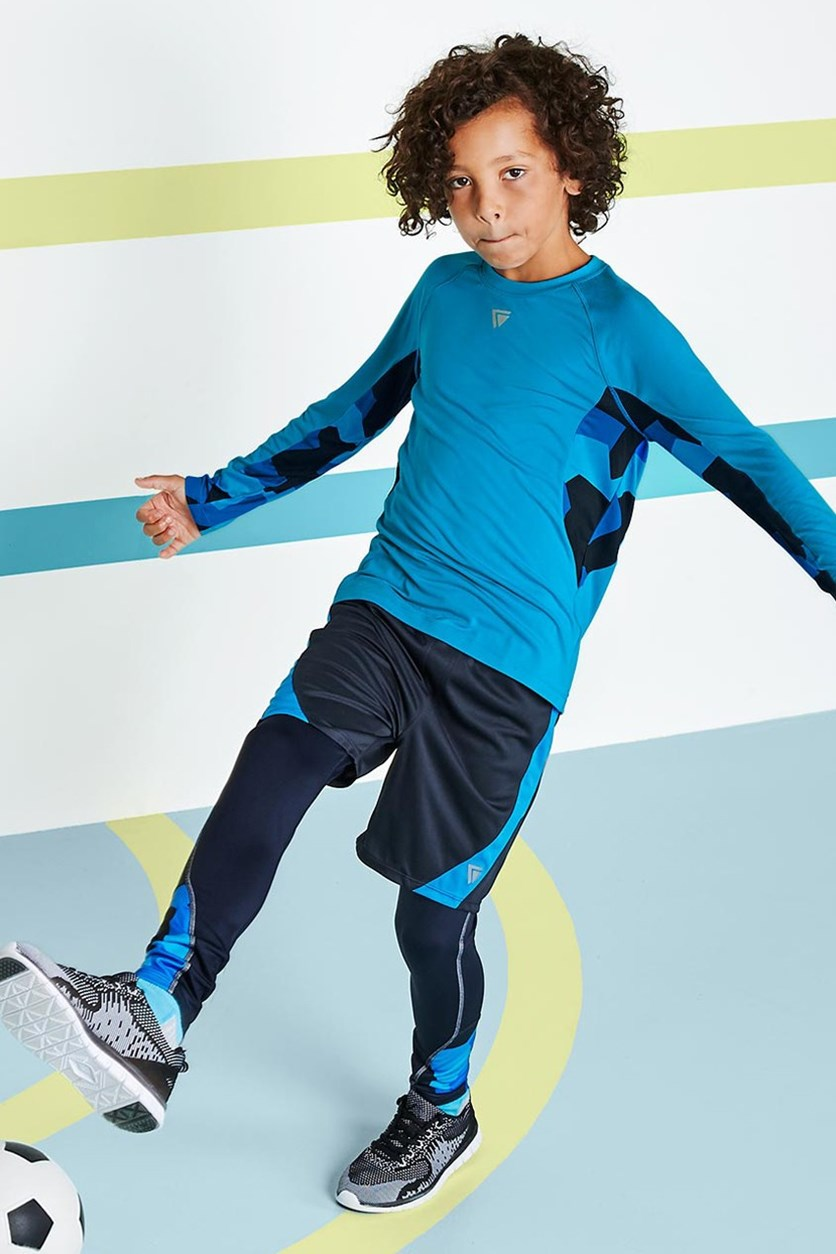 Boys Kids, performance Top, Blue