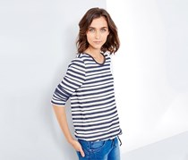 Women's Stripe T-Shirt, Light Blue