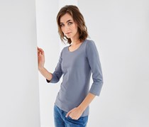 Women's 3/4 sleeves Shirt, Light Blue