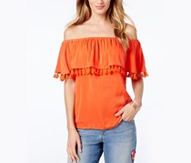INC Off-The-Shoulder Top, Cosmic Orange