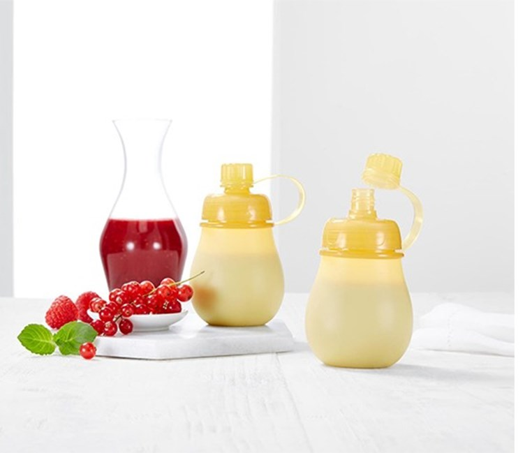 Portable Bottle 2 Pieces, Yellow