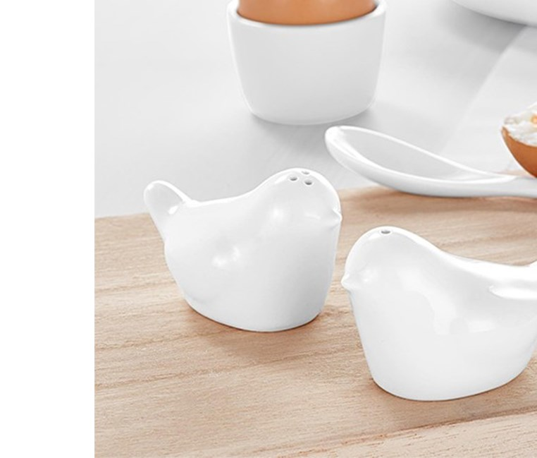 Salt And Pepper Cellar, Offwhite