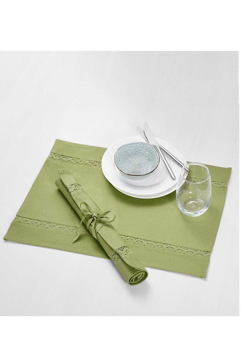 Placemats 49x35 cm, Set of 2, Green