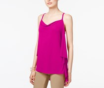 International Concepts Draped-Back Top, Magenta Flame