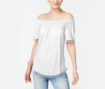 International Concepts Off-The-Shoulder Top, Bright White