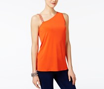 Inc International Concepts One-Shoulder Top, Cosmic Orange