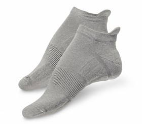 Women's 2 Performance Running Socks, Grey/ Orange
