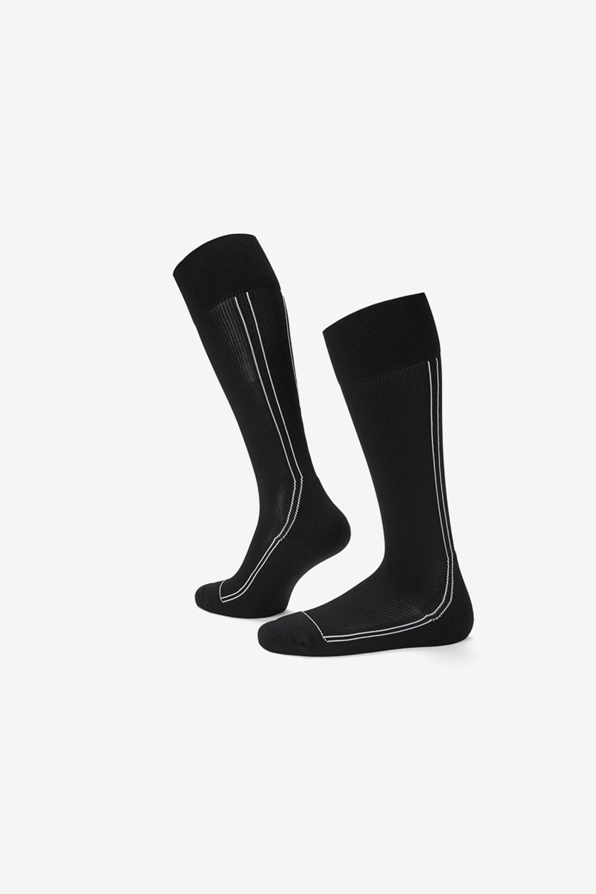 Men Sports Support Socks, Black