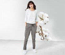 Women's Joggpants, Heather Grey