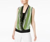 International Concepts Petite Layered-Look Surplice, Kale