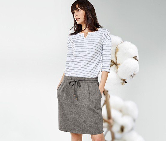 Women's Skirt, Heather Grey