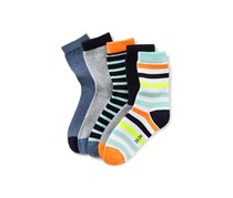 Kids Multi Color Socks, Black/Blue/Orange