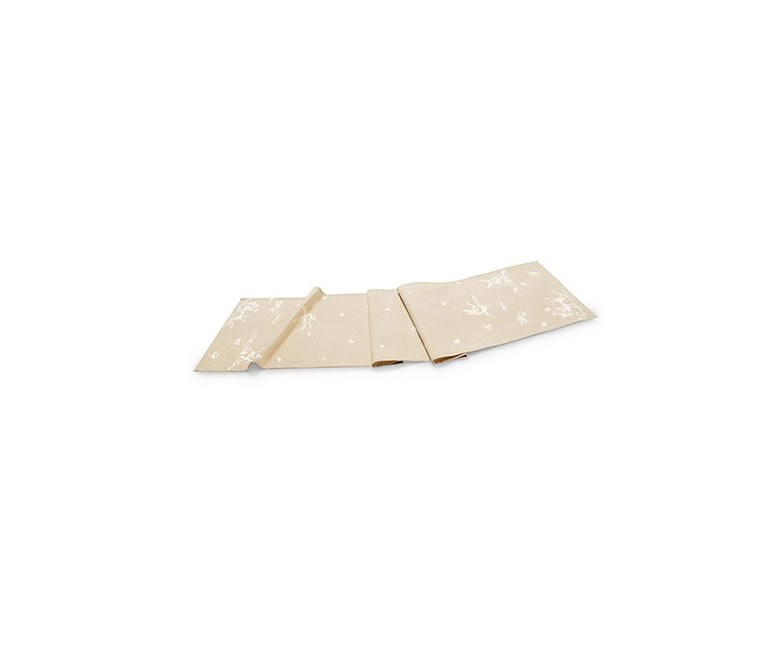 Table Patterned Strip Cover, Beige