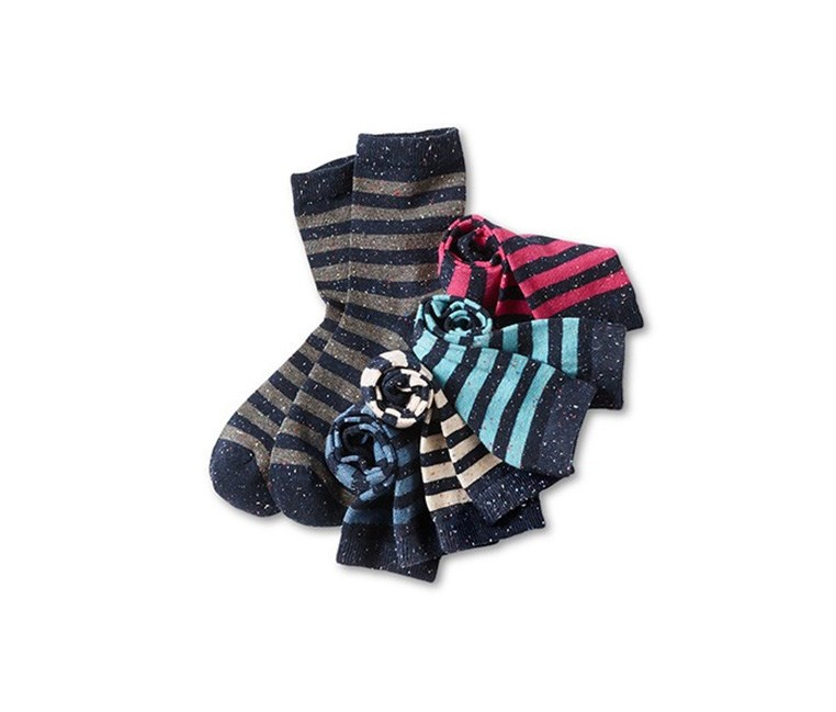 Kids 5 Pairs Of Socks, Dark Blue