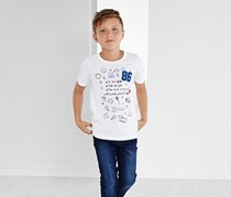 Kids Boy Shirt, White