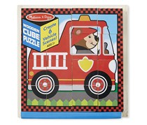 Vehicles Wooden Cube Puzzle With Storage Tray