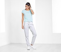 Women Fitness Pants, Heather White