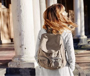 Women's Backpack, Beige